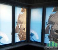 Рольшторы с фото моря и карабля на эркерное окно